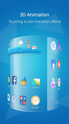 Download CM Launcher Pro 3D v3.42.1 Full Apk Tema dan Wallpaper Android