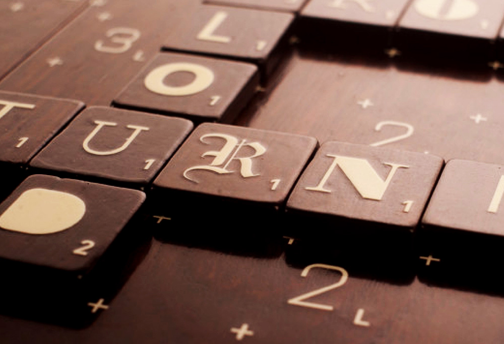 Limited Edition Typography Scrabble