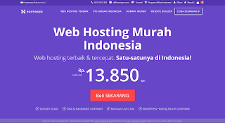 Hostinger Indonesia : Web Hosting Terbaik dan Tercepat di Indonesia