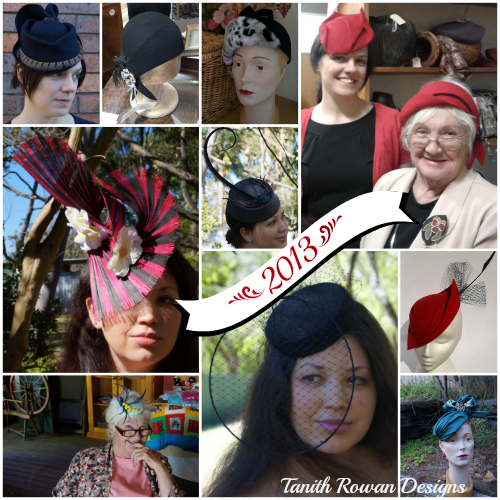 A collage of some of my hats made in 2013