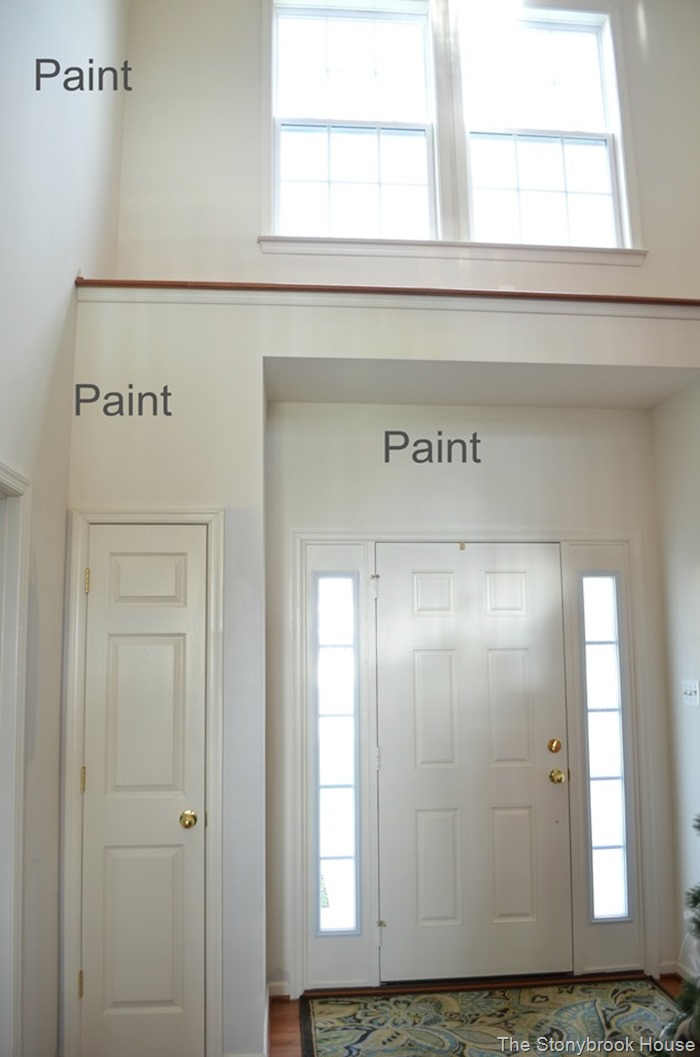 Entry in desperate need of paint