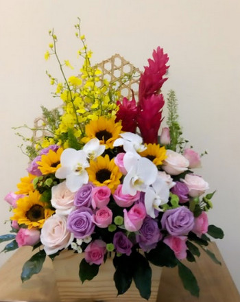 Giỏ hoa đẹp sinh nhật