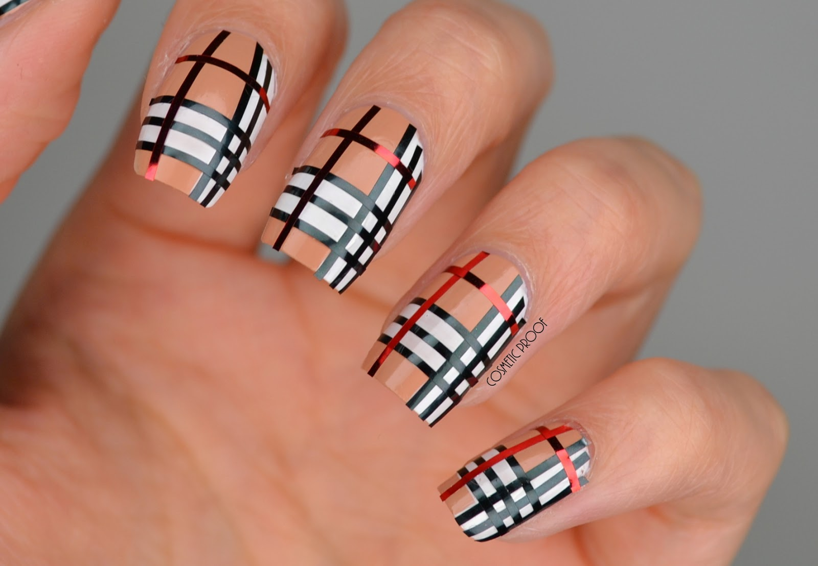 Nails Striping Tape Burberry Nail Art Cbbnov Cosmetic Proof