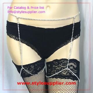 garter belt rhinestone