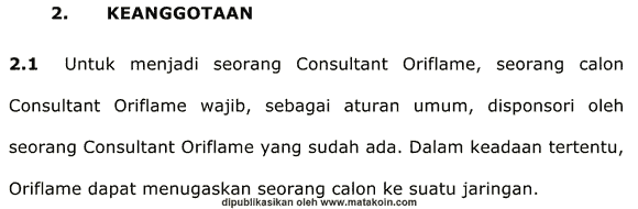 syrat-keanggotaan-oriflame