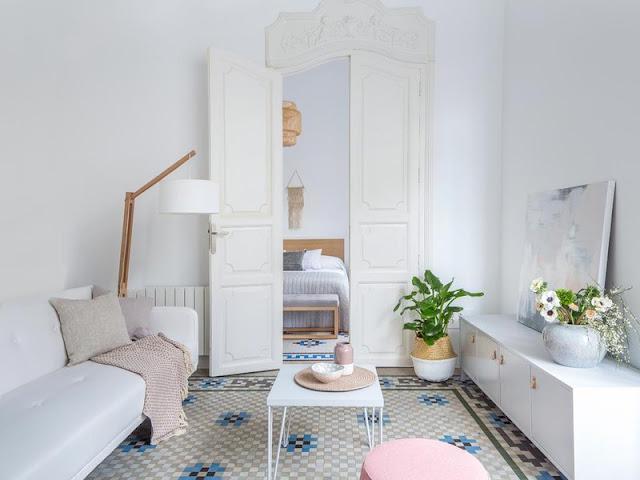 Pasteluri dulci într-un delicat apartament din Valencia