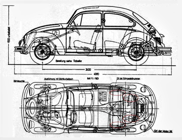 VW 85: Diagrama VW Fusca