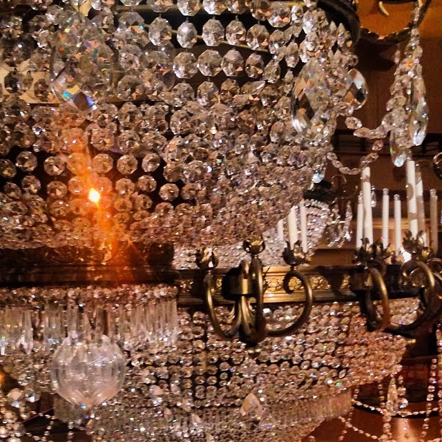 Chandelier in Ball Room at Waldorf Astoria NYC