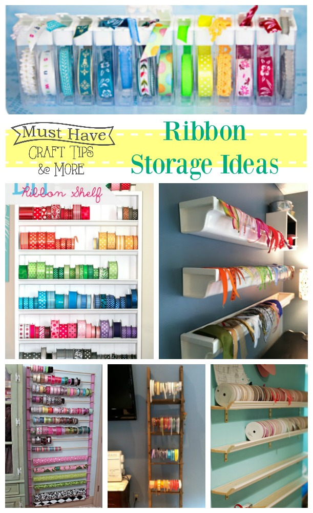Gentil Today I Am Finishing Up Our Month Of Craft Room Storage Solutions With Ribbon  Storage Ideas!