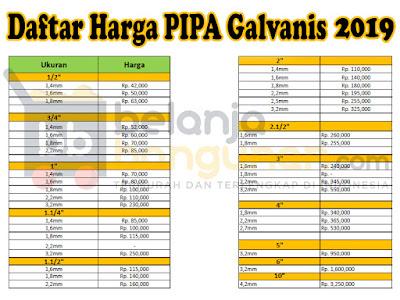 Distributor Pipa Galvanis Harga Murah