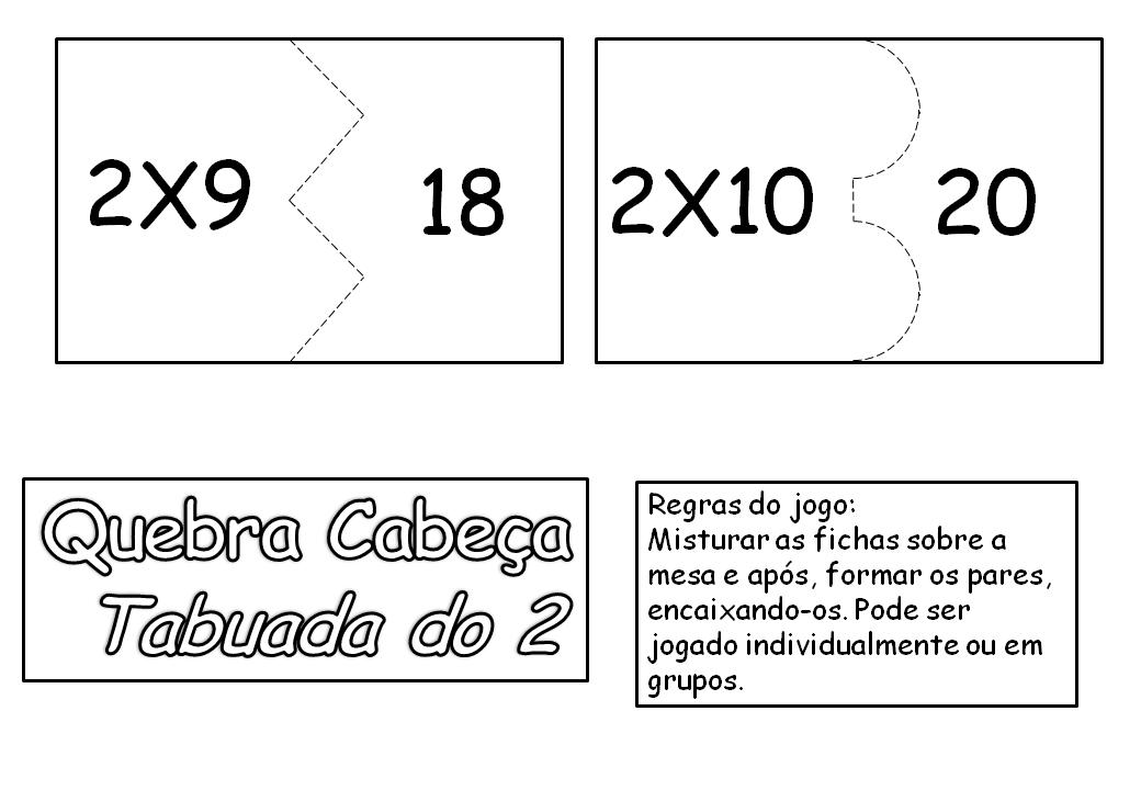 Professora Valdete Cantu Domino Da Tabuada Do 2