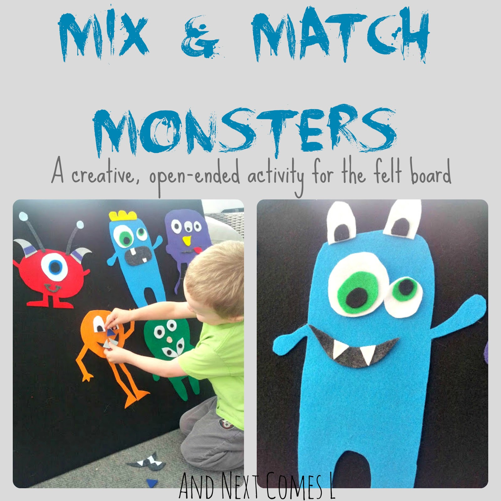 mix and match monsters and next comes l. Black Bedroom Furniture Sets. Home Design Ideas