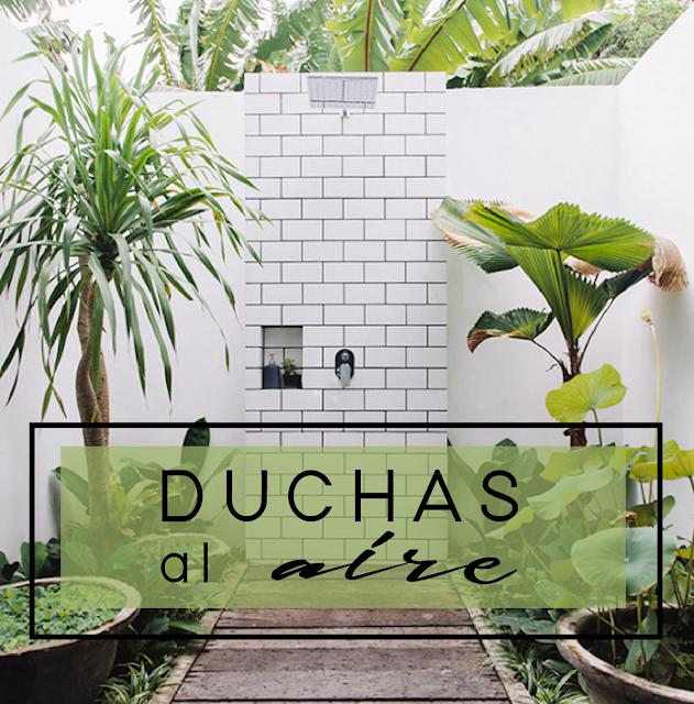 Baños y duchas de exterior | Outdoor shower | Decoración handmade para hogar y eventos by Habitan2