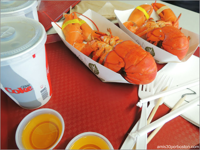 Langostas en Brown's Lobster Pound, New Hampshire