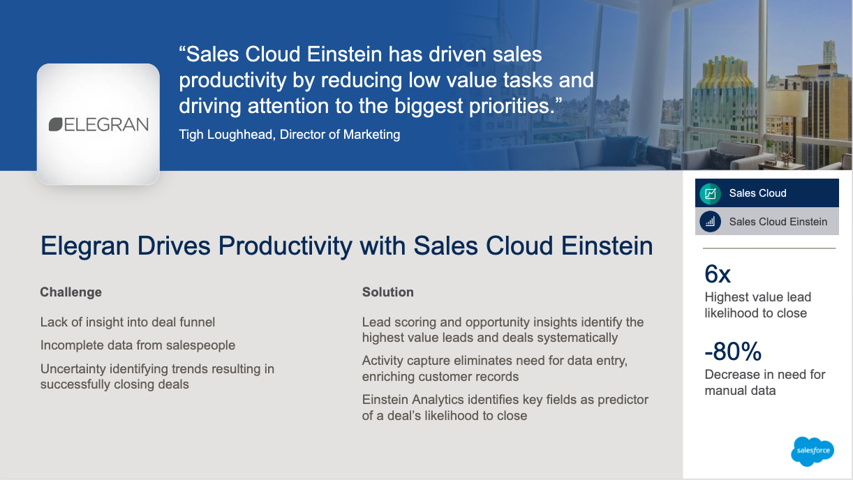 Tigh Loughhead Salesforce MVP and Marketing Director Drives Productivity with Sales Cloud Einstein