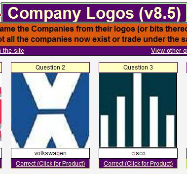 quizardry answers company logos v85