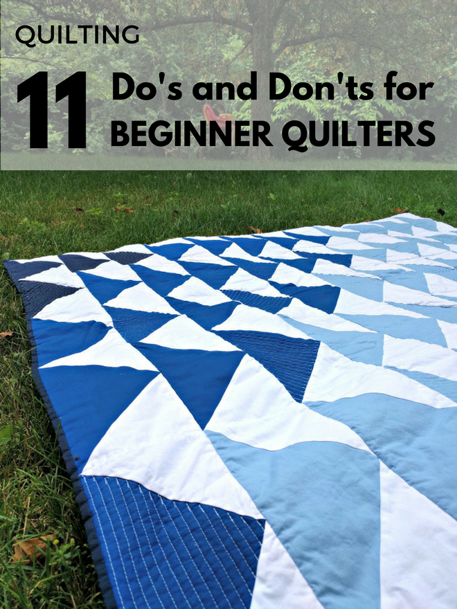 Check out 11 quilting tips for beginners.