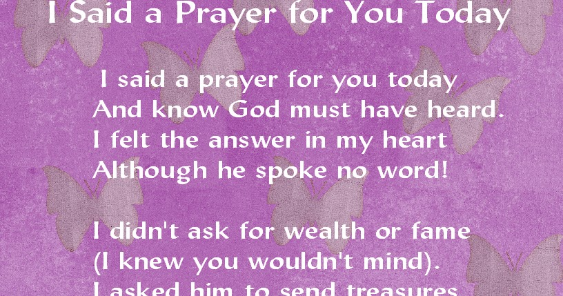 graphic regarding I Said a Prayer for You Today Printable named 100+ These days I Claimed A Prayer For Your self Printable yasminroohi