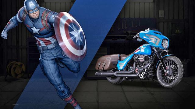 Capitan America Harley Davidson