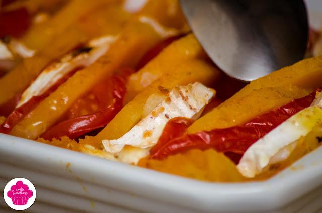 Tian de butternut, tomates, oignon et chèvre