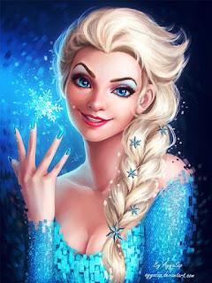 Gambar foto Elsa Frozen gratis