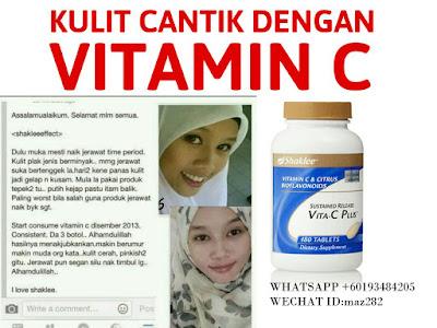 vitamin c shaklee murah,vitamin c shakleee,kulit cantik dengan vitamin c