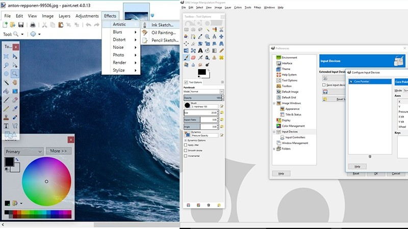 Paint.net dan Gimp