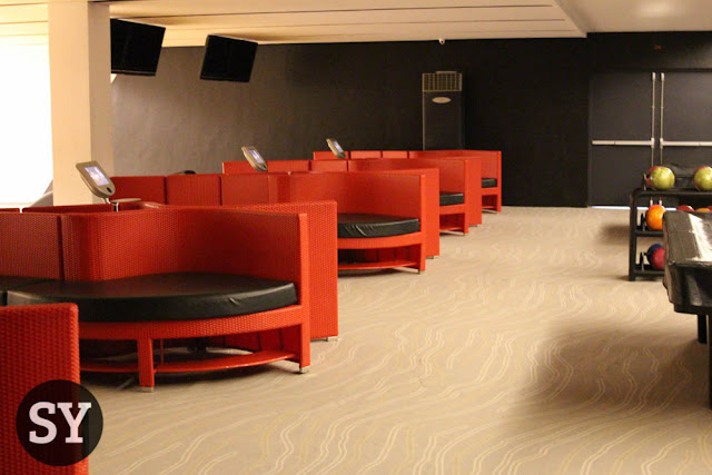 Spacious interior of the bowling area - Tempus Sports Lounge