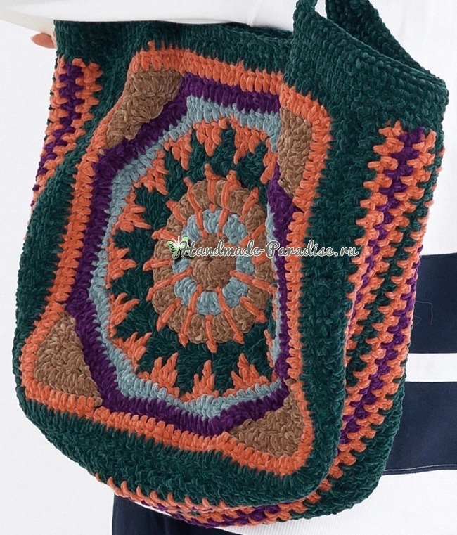 Схема вязания сумки Мандала (3)