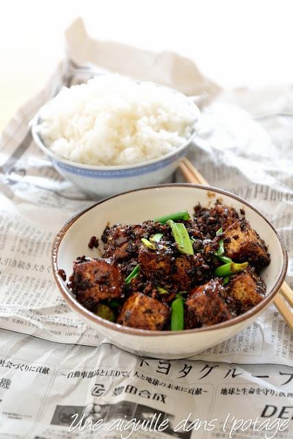 Tofu frit au poivre de Sichuan/cuisine asiatique