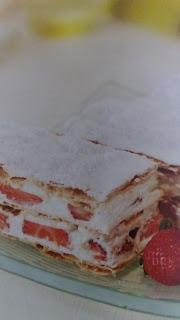cilekli milfoy pasta