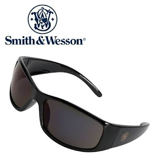 SMITH & WESSON Elite Series Safety Sunglasses (Black) - FREE: Carry Case