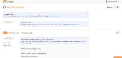 panduan membuat blog di blogger