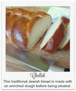 This delicious enriched bread is traditionally made in Jewish households.  It is shaped into a five strand braid.