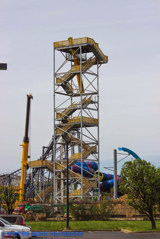 Construction Update: Storm Chaser Roller Coaster at ... |Kentucky Kingdom Water Roller Coaster