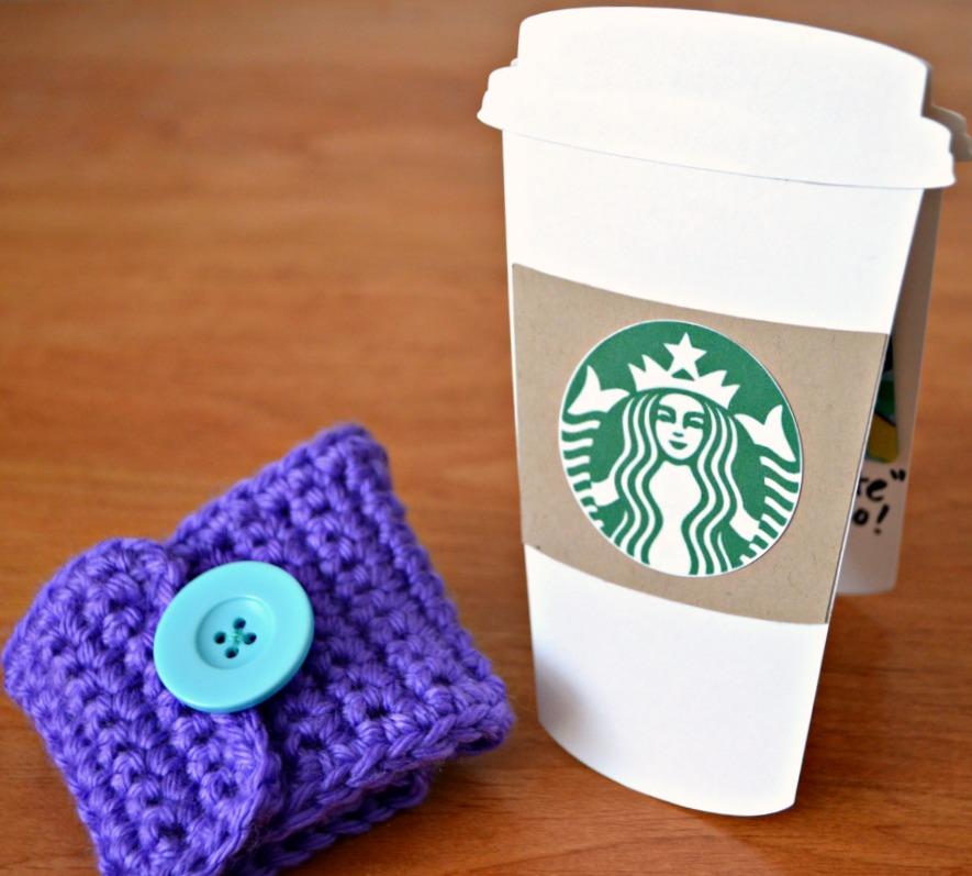 thanks a latte teacher appreciation gift idea hand crocheted