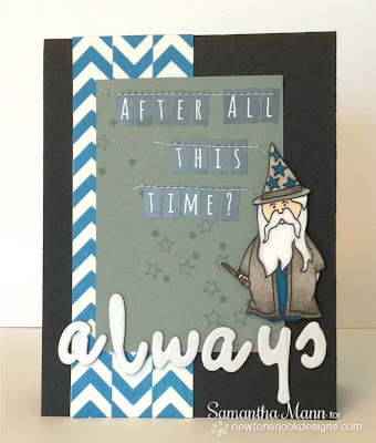 Harry Potter Wizard Card for Inky Paws Challenge #3