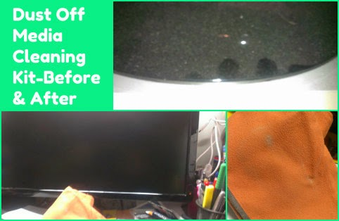 Dust off Ultimate Screen Care Kit before n after