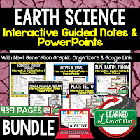 Earth Science Guided Notes and PowerPoints NGSS, Next Generation Science Standards, Google and Print  ➤Science Guided Notes, Interactive Notebook, Note Taking, PowerPoints, Anticipatory Guides, Google Classroom