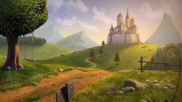 Papel de Parede Fantasia Castelo Mágico