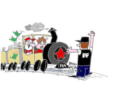 Resultado de imagem para trem pagador charge