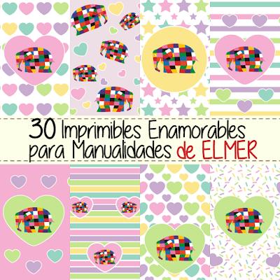 Imprimibles Manualidades Enamorar Elmer