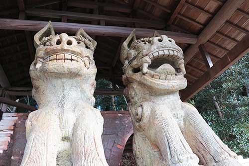 Hachioji Temple Komainu, Mizunami, Gifu.