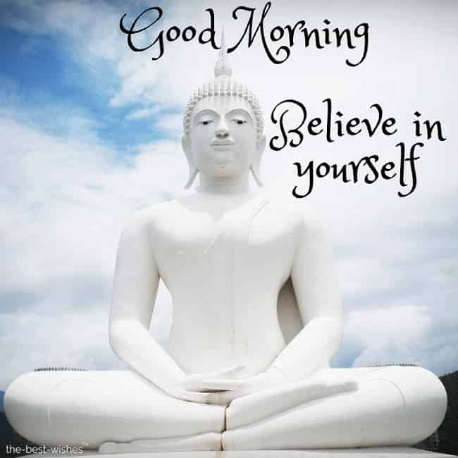 good morning with lord buddha picture