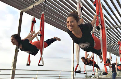 yoga aereo, aeroyoga, air yoga, prensa, tv, medios, television, radio, tendencias, trending, lifestyle, diarios, wellness, salud, ejercicio, deporte, medicina, bienestar, cursos, clases