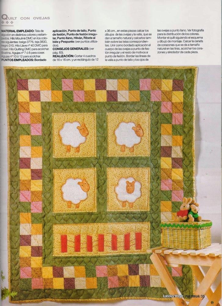 Como hacer colcha en patchwork revistas de manualidades - Como hacer colchas de patchwork ...