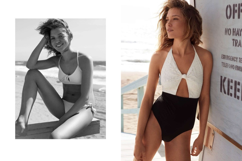 Hana Jirickova flaunts bikinis for the H&M Lookbook