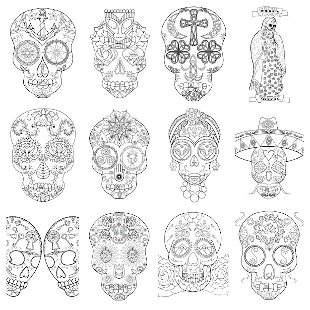 Sugar Skull Coloring Book Launch And Free Printable Adult Coloring Page