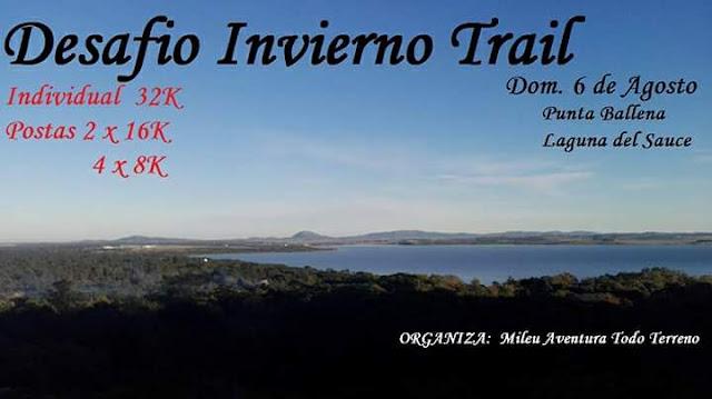 32k - 2x16k - 4x8k- Desafío invierno trail en Punta Ballena y Laguna del Sauce (Maldonado, 06/ago/