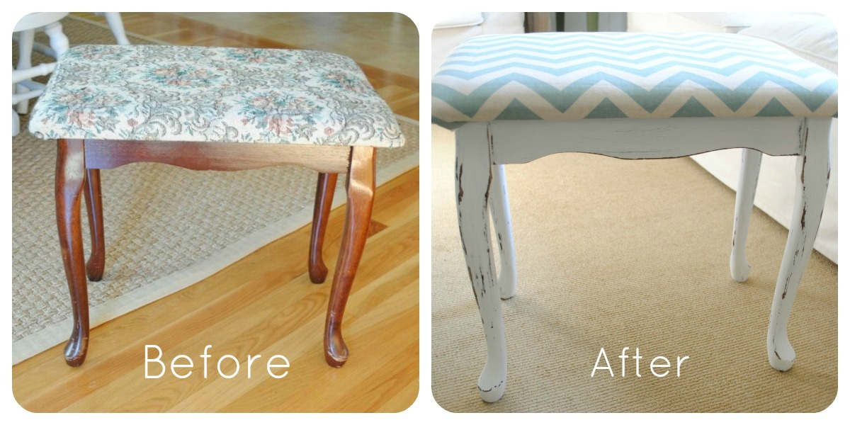 Naptime Decorator: $3 Yard Sale Bench Makeover